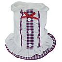 hesapli Fırın Araçları ve Gereçleri-Kedi Köpek Elbiseler Köpek Giyimi Kareli Fiyonk Düğüm Mor Kırmzı Mavi Pamuk Kostüm Evcil hayvanlar için Cosplay Düğün