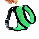 cheap Dog Collars, Harnesses & Leashes-Dog Harness Adjustable / Retractable Nylon Mesh Black Red Green Blue Pink