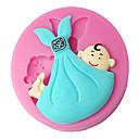 hesapli Fırın Araçları ve Gereçleri-Dört-c silikon kek kalıbı bebek kek dekor kalıp kek dekorasyon, fondan dekorasyon araçları renk pembe malzemeleri