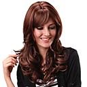 hesapli Bilezikler-Sentetik Peruklar Bukle Bantlı Sentetik Saç Patlama ile Peruk Kadın's