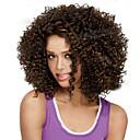 hesapli Makyaj ve Tırnak Bakımı-Sentetik Peruklar Bukle Sentetik Saç Işıltılı / Balyajlı Saç / Afrp Amerikan Peruk Kahverengi Peruk Kadın's Şort Bonesiz Kahverengi