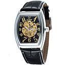 hesapli Erkek Saatleri-Erkek Elbise Saat mekanik izle Otomatik kendi hareketli Kronograf Bant Analog Beyaz Siyah