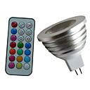 Недорогие Точечное LED освещение-4w 350-450 lm mr16 rgb светодиодный колпачок пульт дистанционного управления прожектор ac dc 12v