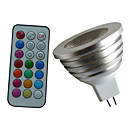 preiswerte LED-Scheinwerfer-4W 350-450 lm GU5.3(MR16) LED Spot Lampen MR16 1PCS Leds Hochleistungs - LED Abblendbar Dekorativ Ferngesteuert RGB Wechselstrom 12V DC