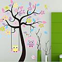 hesapli Köpek Giyim ve Aksesuarları-renkli ağaç& pvc duvar sticker owls