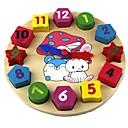 preiswerte Puzzles-Holz Uhr Spielzeug Uhr Bildung Holz Geschenk