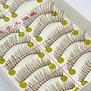 Buy 10 Pairs Natural Long Brown False Eyelashes Handmade Individual Lashes Makeup Extensions