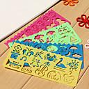 preiswerte Zubehör zum Zeichnen und Schreiben-Kinder Einfache Zeichnung Lineal (zufällige Farben)