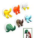 preiswerte Lagerung und Organisation-Cartoon Tier Schwanz Design Plastikhaken (gelegentliche Farbe)