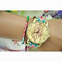 cheap Wrap Bracelets-Women's Fashion Watch Dress Watch Wrist Watch Quartz Nylon Red / Green Hot Sale Analog Ladies Charm Bracelet - 5# 6# 7# One Year Battery Life / Jinli 377
