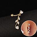 hesapli Vücut Takıları-Kübik Zirconia Göbek Halkası / Göbek Piercing - Paslanmaz Çelik, Zirkon, Kübik Zirconia Moda Kadın's Beyaz / Mavi / Pembe Vücut Mücevheri Uyumluluk Günlük