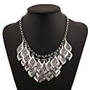 olcso Divat nyaklánc-Női Nyilatkozat nyakláncok Rakott nyakláncok Többrétegű Virág Vésett Többrétegű Arany Ezüst Nyakláncok Ékszerek Kompatibilitás Parti