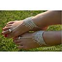 hesapli Takı Setleri-Kristal Ayak bileziği - Kristal, Simüle Elmas Eşsiz Tasarım, Moda Gümüş Uyumluluk Düğün Parti Günlük Kadın's