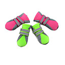 cheap Dog Supplies & Grooming-Cat Dog Boots / Shoes Waterproof Solid Green Pink For Pets