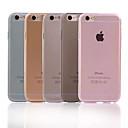 hesapli iPhone Kılıfları-Pouzdro Uyumluluk Apple iPhone X / iPhone 8 Plus / iPhone 6 Plus Ultra İnce / Şeffaf Arka Kapak Solid Yumuşak TPU için iPhone X / iPhone 8 Plus / iPhone 8