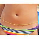 hesapli Kolyeler-Koraliki Vücut Zinciri / Belly Chain Eşsiz Tasarım, Vintage, Parti Kadın's Ekran Rengi Vücut Mücevheri Uyumluluk Günlük