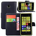 hesapli Nokia İçin Kılıflar / Kapaklar-Pouzdro Uyumluluk Nokia Lumia 925 / Nokia Lumia 630 / Nokia Nokia Kılıf Cüzdan / Kart Tutucu / Satandlı Tam Kaplama Kılıf Solid Sert PU Deri için