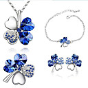 cheap Dog Clothing & Accessories-Women's Crystal Jewelry Set Crystal, Rhinestone Ladies, Fashion Include Green / Blue / Royal Blue For Party Daily / Earrings / Necklace / Bracelets & Bangles
