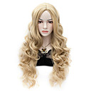 ieftine Machiaj & Îngrijire Unghii-Peruci Sintetice Buclat Stil Fără calotă Perucă Blond Păr Sintetic Pentru femei Perucă Foarte lung Halloween Wig