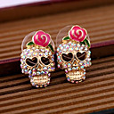 cheap Earrings-Women's Stud Earrings - Skull Pink For Daily / Casual