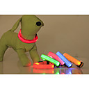 preiswerte Hundehalsbänder, Geschirre & Leinen-Katze Hund Halsbänder LED-Lampen Regolabile / Einziehbar Solide Nylon Gelb Rot Grün Blau Rosa