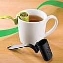 Χαμηλού Κόστους Εργαλεία για τσάι-σχήμα πλαστικό κουτάλι τσαγιού εγχυτήρα σουρωτήρι βότανα μπαχαρικά φύλλο κουταλάκι του γλυκού (τυχαία χρώμα)