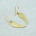 preiswerte Halsketten-Damen Tropfen-Ohrringe - vergoldet Für Hochzeit Party Alltag