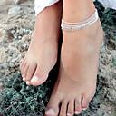 hesapli Vücut Takıları-Ayak bileziği - Moda Gümüş Uyumluluk Parti Günlük Kadın's