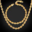 preiswerte Armbänder-Glasperlen Schmuck-Set - vergoldet Böses Auge Einschließen Gold Für Hochzeit Party Alltag / Halsketten / Armband
