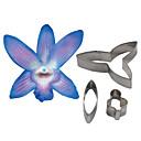 hesapli Fırın Araçları ve Gereçleri-Dört-c dendrobium orkide petal çiçek kesici, kek dekorasyon araçları kalıp kesici çerez aksesuarları araçları fondant
