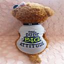 tanie Ubranka i akcesoria dla psów-Psy T-shirt Ubrania dla psów Szary Bawełna Kostium Na Lato