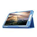 Недорогие Чехлы и кейсы для Samsung Tab-Кейс для Назначение SSamsung Galaxy Кейс для  Samsung Galaxy со стендом Флип Чехол Сплошной цвет Кожа PU для Tab E 9.6