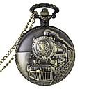 hesapli Erkek Saatleri-Erkek Quartz Cep kol saati Gündelik Saatler Alaşım Bant İhtişam Bronz