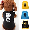 cheap Dog Clothing & Accessories-Cat Dog Shirt / T-Shirt Outfits Dog Clothes Skull Yellow Blue Black / Yellow Cotton Costume For Spring &  Fall Summer Men's Women's Casual / Daily
