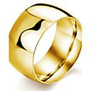 זול טבעות-בגדי ריקוד גברים טבעת הטבעת טבעת אגודל פלדת טיטניום ציפוי זהב אופנתי דובאי Fashion Ring תכשיטים לבן / שחור / מוזהב עבור Party יומי קזו'אל ספורט 7 / 8 / 9 / 10 / 11