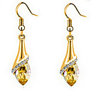 preiswerte Ohrringe-Damen Kristall Tropfen-Ohrringe - Kubikzirkonia, vergoldet, Österreichisches Kristall Gold Für