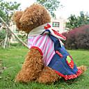hesapli Köpek Giyim ve Aksesuarları-Köpek Kostümler Kıyafetler Elbiseler Köpek Giyimi Kalp Meyve Pembe Polar Kumaş Pamuk Kostüm Evcil hayvanlar için Cosplay Cadılar Bayramı