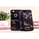 cheap iPhone Cases-Case For iPhone 5 / Apple iPhone 5 Case Shockproof Back Cover Solid Colored / Camouflage Hard PC for iPhone SE / 5s / iPhone 5