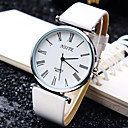 Buy Men's Business Trend Round Rome Number Dial PC Movement Leather Strap Fashion Quartz Watch (Assorted Colors) Wrist Cool Unique
