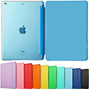 cheap iPad Keyboards-Case For iPad Air Solid Color / Auto Sleep / Wake Up / Folio Case Solid Color PU Leather for