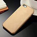 hesapli iPhone Kılıfları-Pouzdro Uyumluluk iPhone 5 Apple iPhone 5 Kılıf Other Arka Kapak Tek Renk Sert PU Deri için iPhone SE/5s iPhone 5