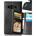 preiswerte iPhone Hüllen-Hülle Für Samsung Galaxy Samsung Galaxy Hülle Geldbeutel / Kreditkartenfächer / mit Halterung Ganzkörper-Gehäuse Solide PU-Leder für J5 / J1 / Grand Prime
