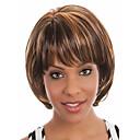 hesapli Makyaj ve Tırnak Bakımı-Sentetik Peruklar Düz Ombre Bob Saç Kesimi / Bantlı Sentetik Saç Ombre Peruk Kadın's Şort Bonesiz Gökküşağı