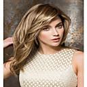 hesapli Makyaj ve Tırnak Bakımı-Sentetik Peruklar Düz Sarışın Bantlı Sentetik Saç Patlama ile Sarışın Peruk Kadın's Bonesiz Sarışın