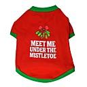 ieftine Carcase / Huse de LG-Pisici Câine Tricou Îmbrăcăminte Câini Bloc Culoare Rosu Bumbac Costume Pentru Vară Bărbați Pentru femei Casul / Zilnic Crăciun