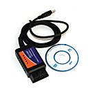 hesapli Teşhis Araçları ve Ekipmanları-Mini ELM327 USB v1.5 OBDII araba algılama teşhis tarama aleti - mavi