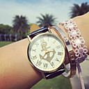 cheap Women's Watches-Women's Fashion Watch Bracelet Watch Quartz Chronograph PU Band Analog Charm Black / White / Blue - Brown Blue Pink