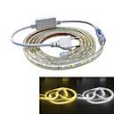 ieftine Mouse-2m Alimentare 120 LED-uri 5050 SMD Alb Cald / Alb Rezistent la apă / Potrivite Pentru Autovehicule 220 V / IP65
