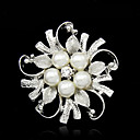 cheap Brooches-Women's Brooches - Imitation Pearl Fashion Brooch Silver For Party / Special Occasion / Birthday