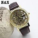 Buy Men's Fashion Personality Quartz Analog Leather Pierced Bracelet Watch(Assorted Colors) Cool Watch Unique